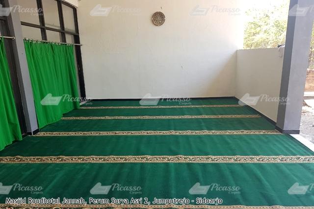 Karpet Masjid Roudhotul Jannah Perum Surya Asri Jumputrejo Sidoarjo