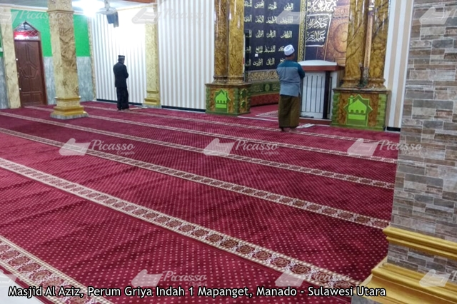 Karpet Masjid Al Aziz Perum Griya Indah Mapanget Manado