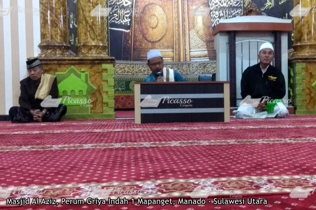 karpet masjid merah mapanget manado