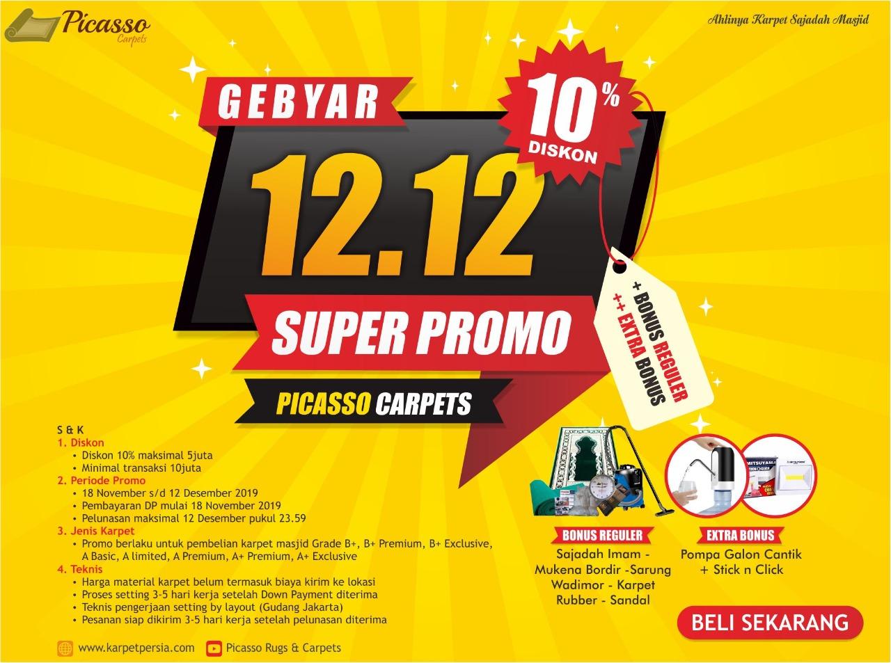 GEBYAR SUPER PROMO KARPET MASJID 12.12