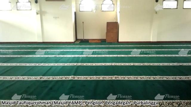Karpet Masjid Taufiqurohman Pengilon Pengadengan Purbalingga