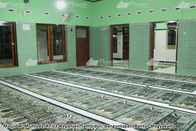 karpet masjid almuhtada bantul jogja