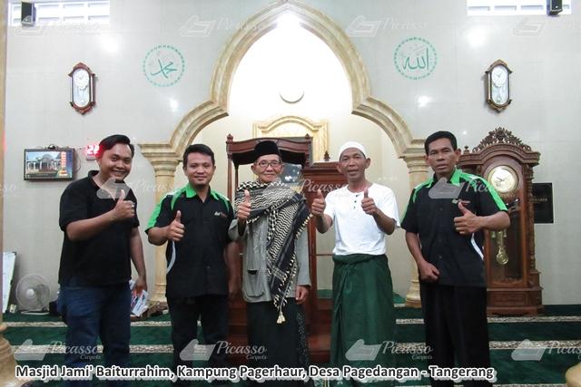 Karpet Masjid Jami' Baiturrahim Pagerhaur Pagedangan Tangerang