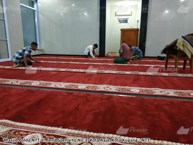 Karpet Masjid Polda NTT Kupang