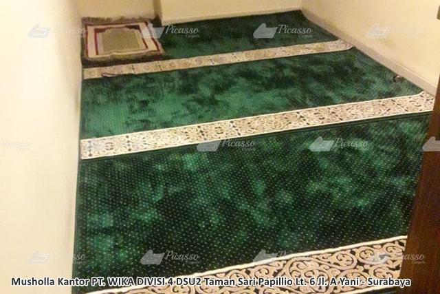 Karpet Masjid di Musholla Kantor PT. WIKA Taman Sari Papillio Surabaya