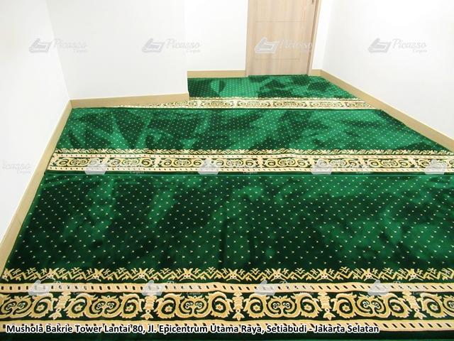 Karpet Masjid di Mushola Bakrie Tower Lantai 80 Setiabudi Jakarta Selatan