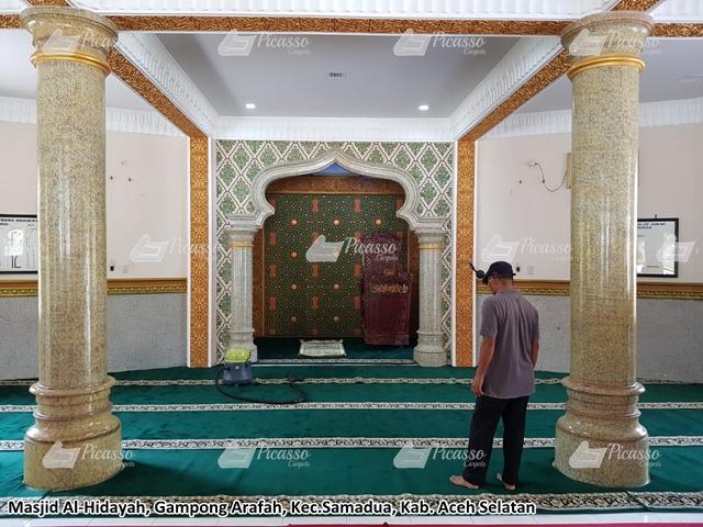 Karpet Masjid Al Hidayah Samadua Aceh Selatan