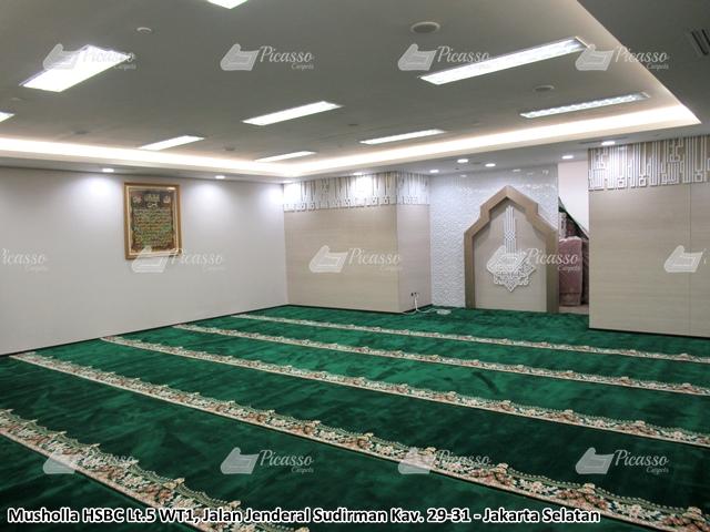 Karpet Masjid di Musholla Bank HSBC Gedung WTC Jakarta Selatan
