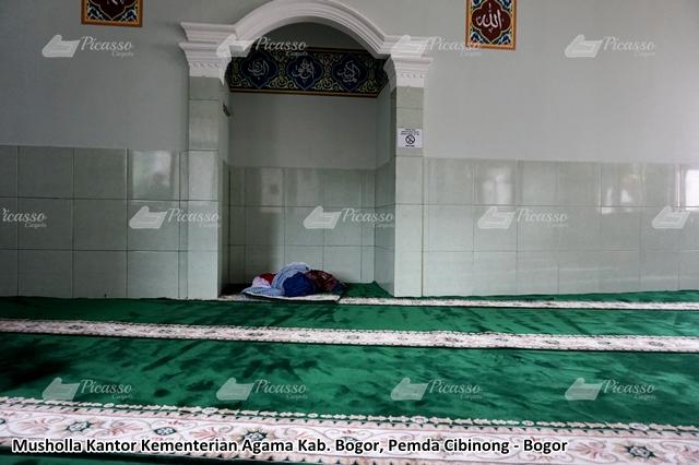 Karpet Masjid di Musholla Kantor Kementerian Agama Cibinong Bogor
