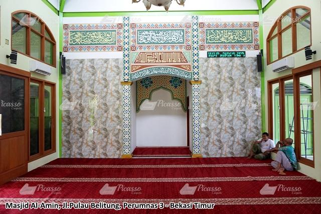 Karpet Masjid Al-Amin Jl.  Pulau Belitung Perumnas 3 Bekasi Timur