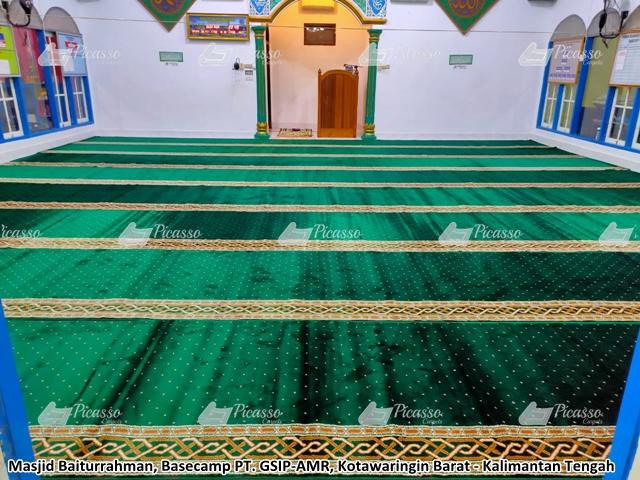 karpet masjid baitturahman kotawaringin barat kalimantan tengah