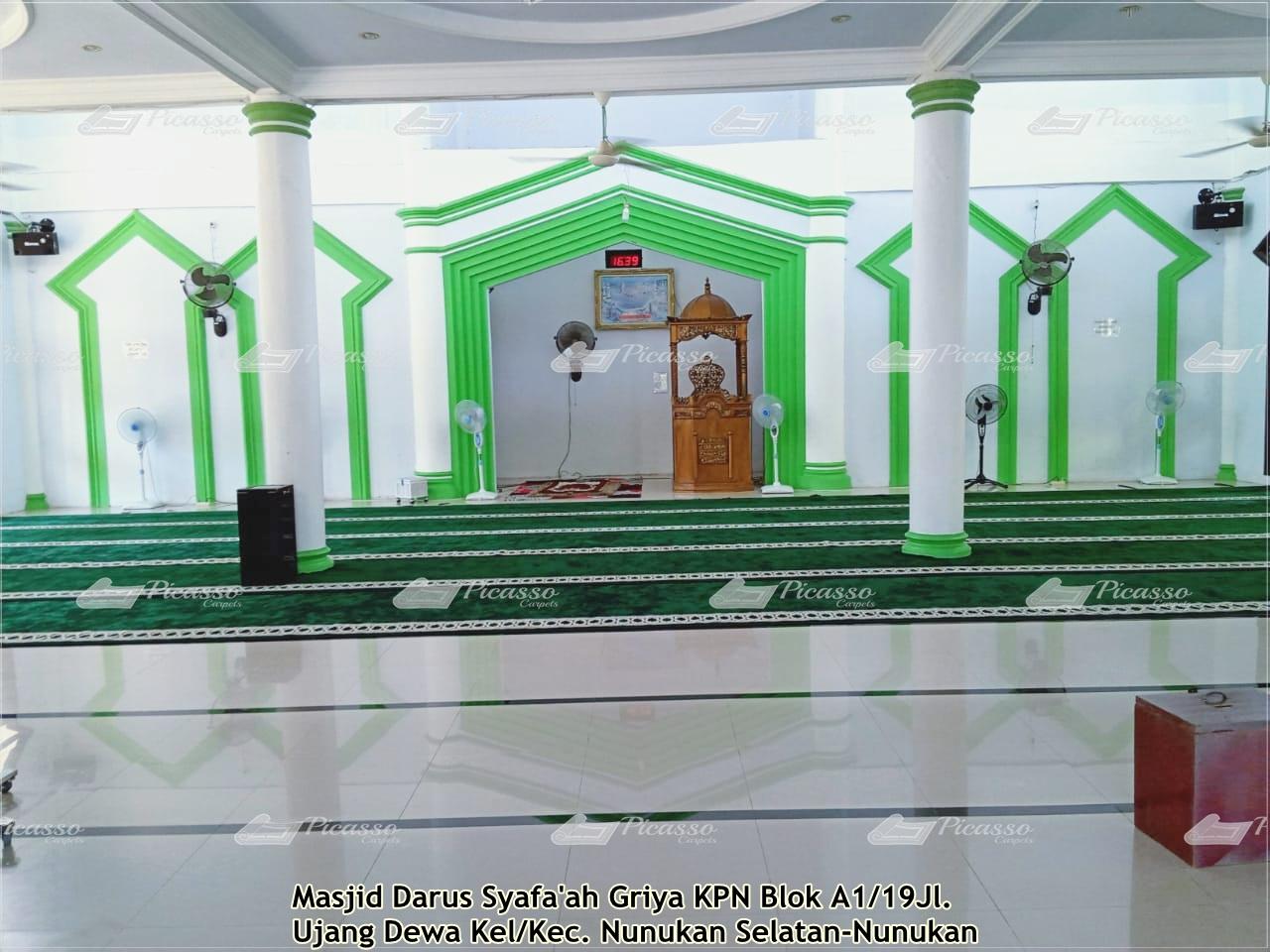 Karpet Masjid Darussyafah, Nunukan Selatan Kalimantan Utara