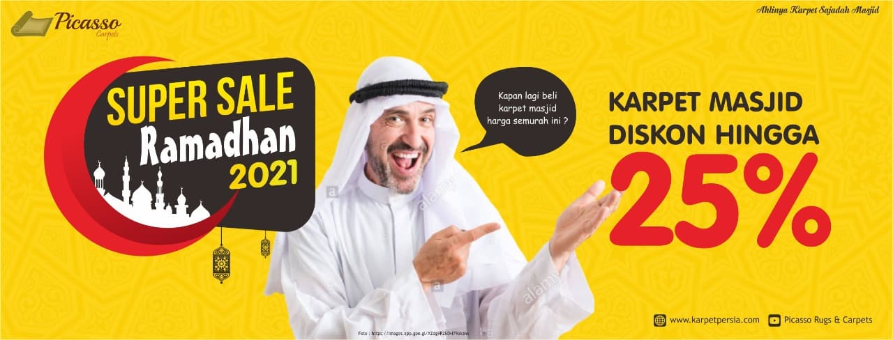 Super Sale Ramadhan 2021 – Karpet Masjid Diskon Hingga 25%