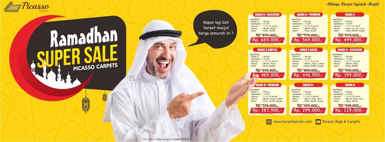 promo supersale ramadan 2021 diskon karpet masjid