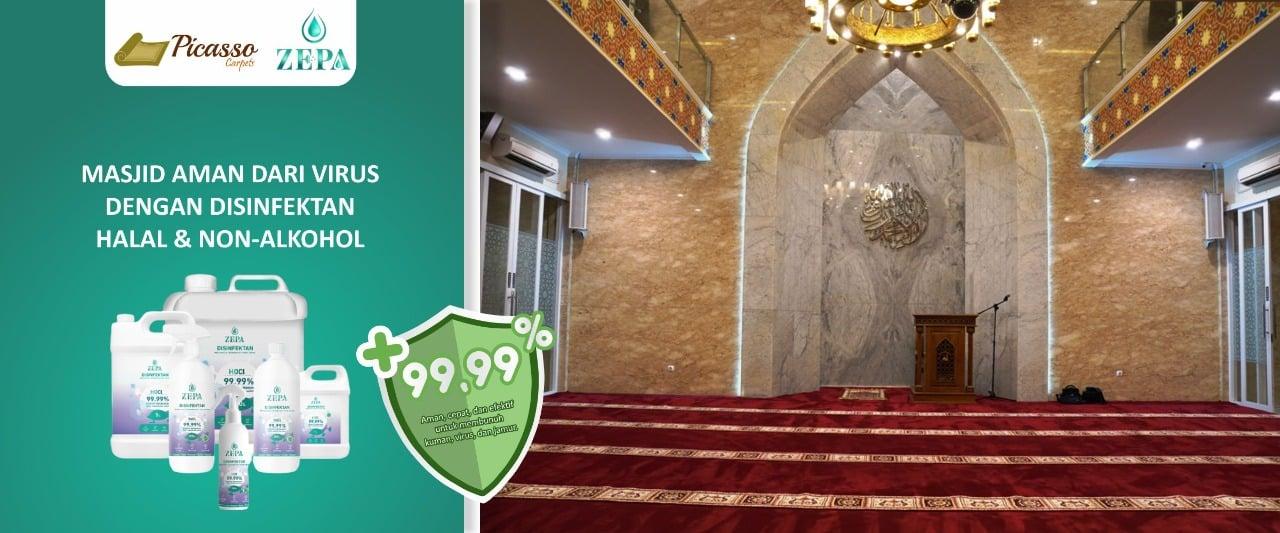 cara mensterilkan karpet masjid (1)