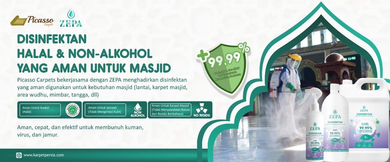 cara mensterilkan karpet masjid (2)